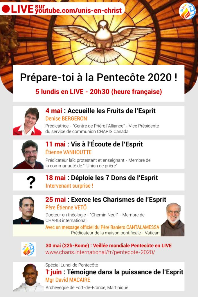Préparation Pentecôte 2020 et veillée de Pentecôte Mondiale sur Youtube